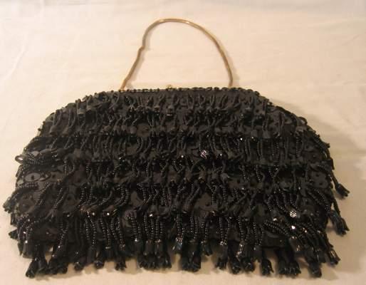 black beaded clutch. Beaded purses,